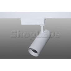 Трековый светодиодный светильник DT-183 (30W, 6000K, однофазный, белый корпус)
