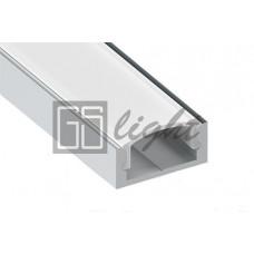 Накладной алюминиевый профиль 1506 CLASSIC (с экраном)